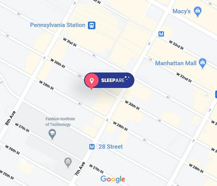 SleePare Mattress Store Map