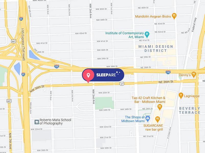 SleePare Miami Map
