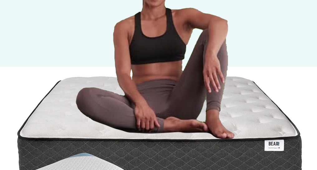 Image of athlete on a bear mattress