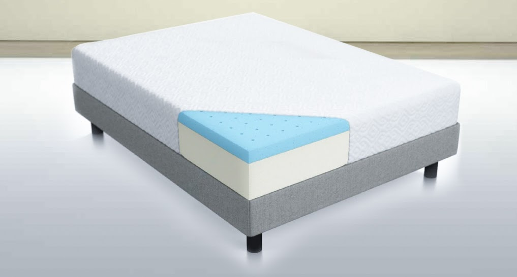 internal design of a memory foam mattress