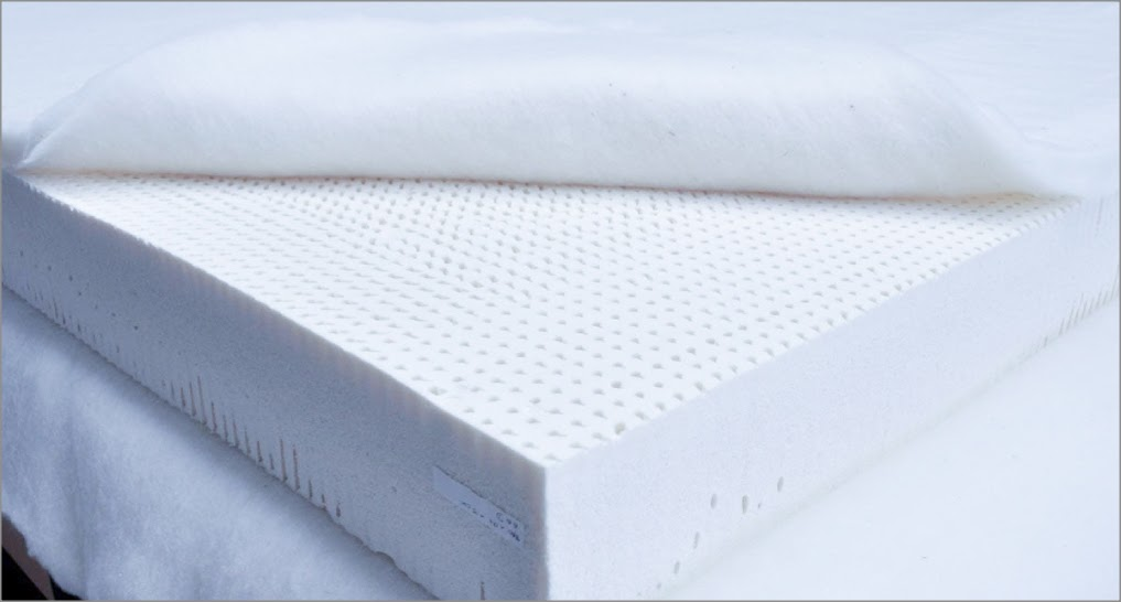 latex mattress with thick wool quilted top