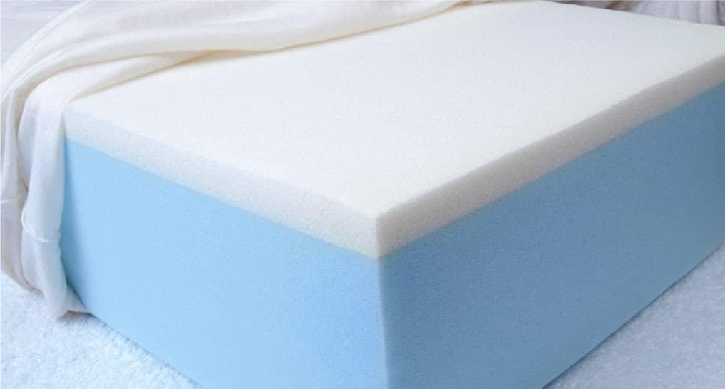 blue memory foam mattress