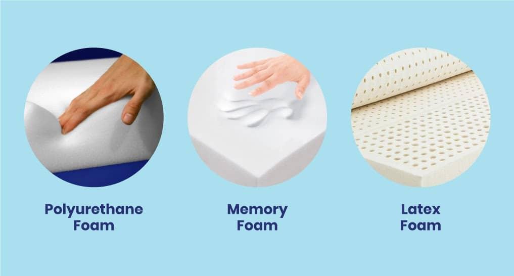 polyurethane-memory-and-latex-foam