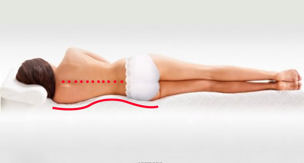 Image of spine on a mattress