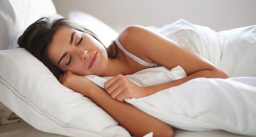 Image of someone sleeping on their side