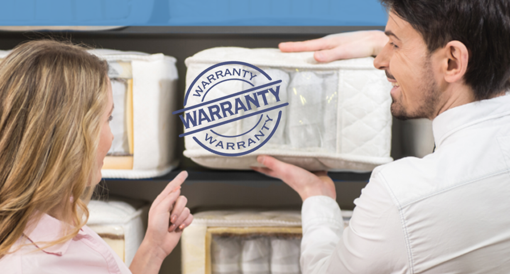 Image of a warranty or someone talking at a mattress store to the owner about warranty