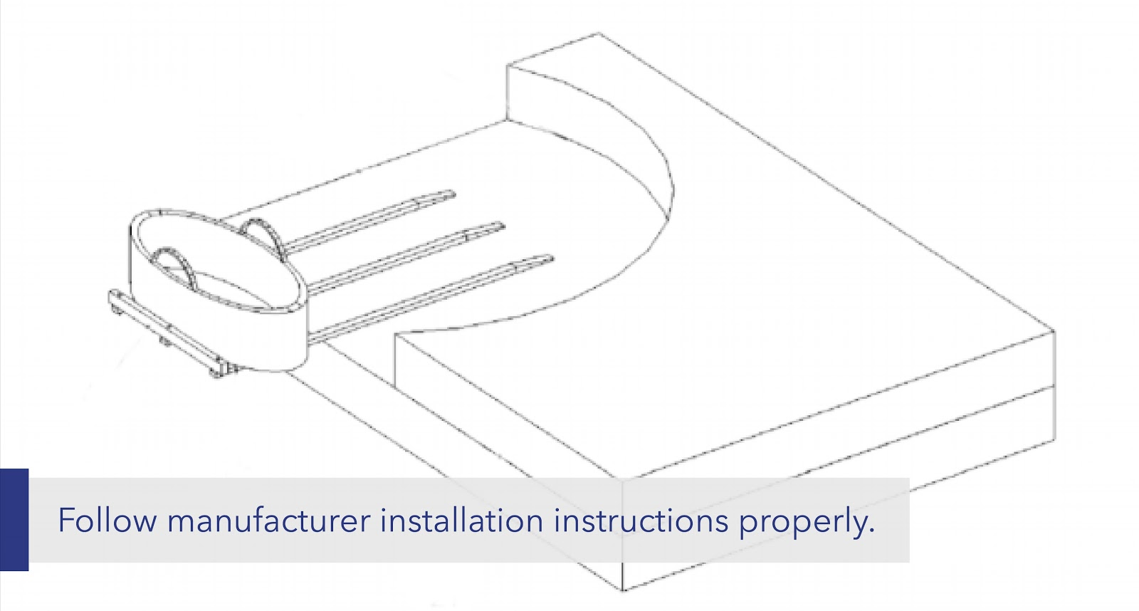"text: ""Follow manufacturer installation instructions properly."