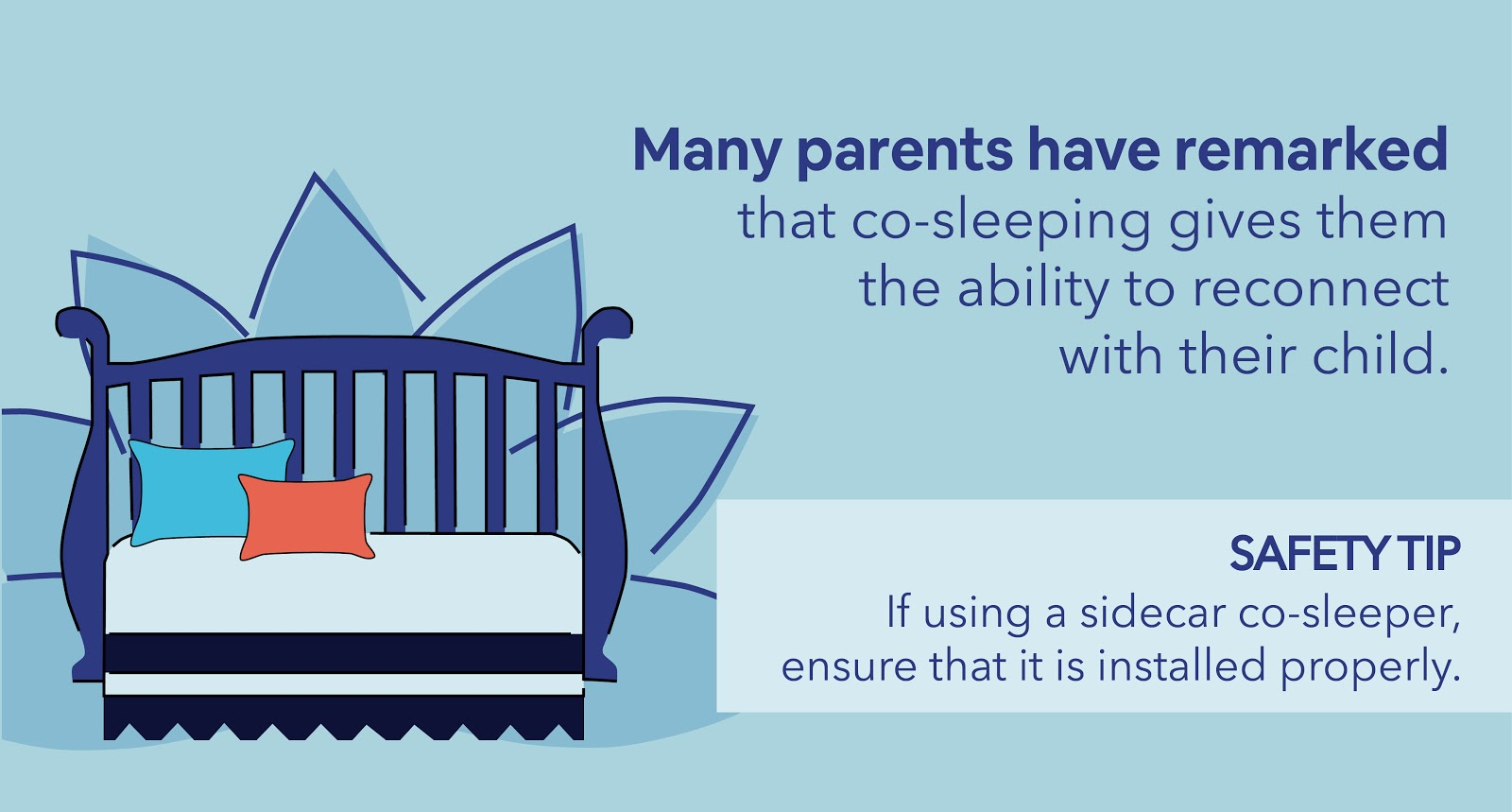 Infographic image with safety tip from Increases a Sense of Intimacy with Your Baby