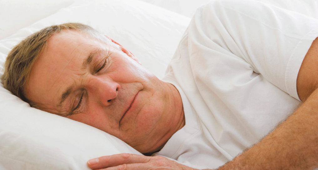 older person on the bed