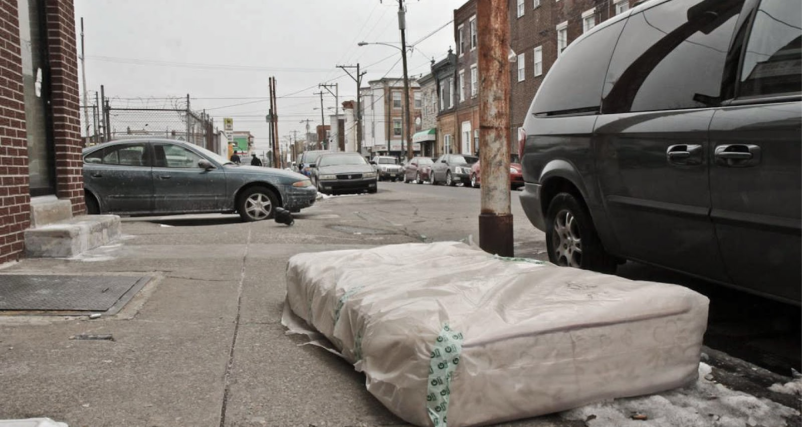mattresses on the street of nyc