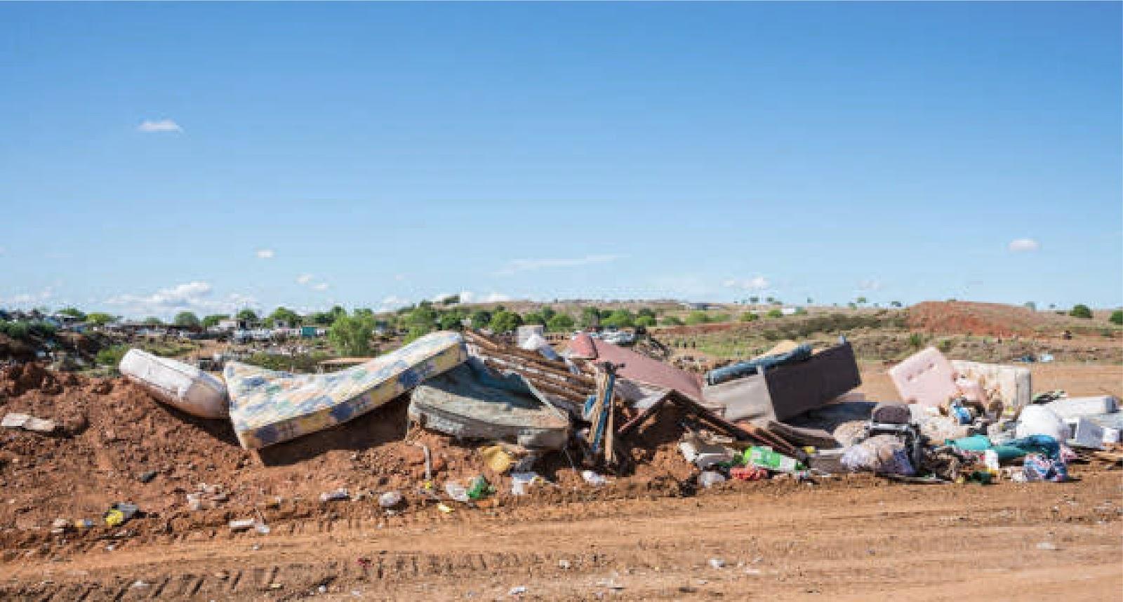 landfill with mattress