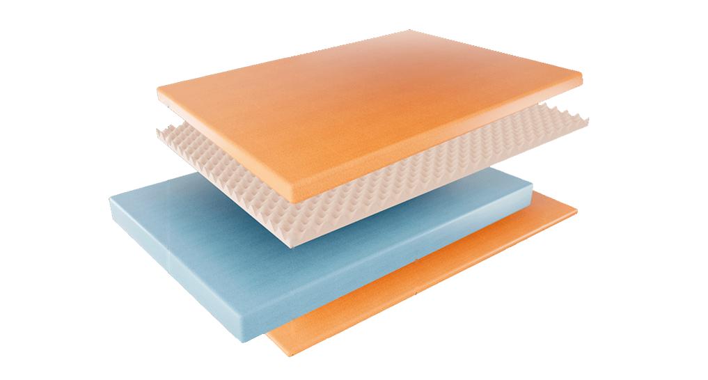 image of a foam mattress materials