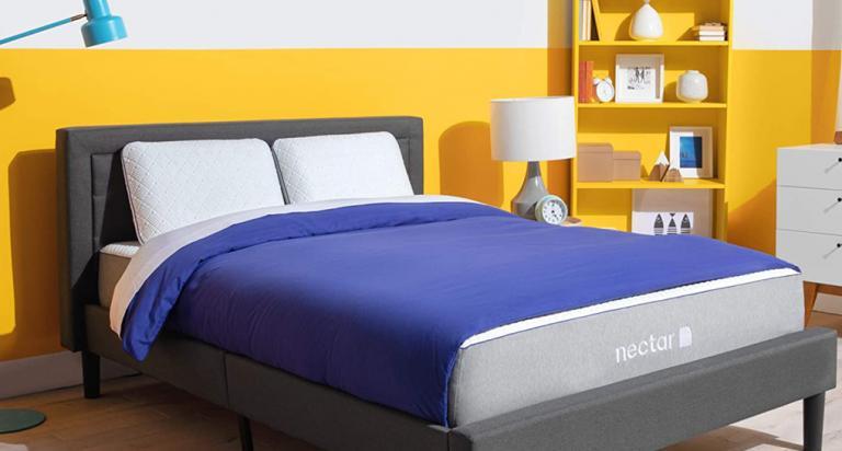 Nectar Mattress blue yellow Miami
