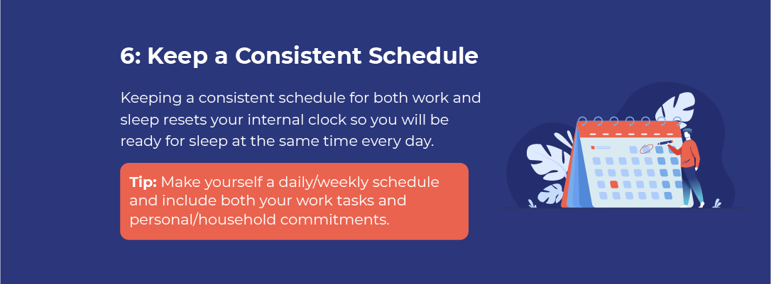 Keep a Consistent Schedule