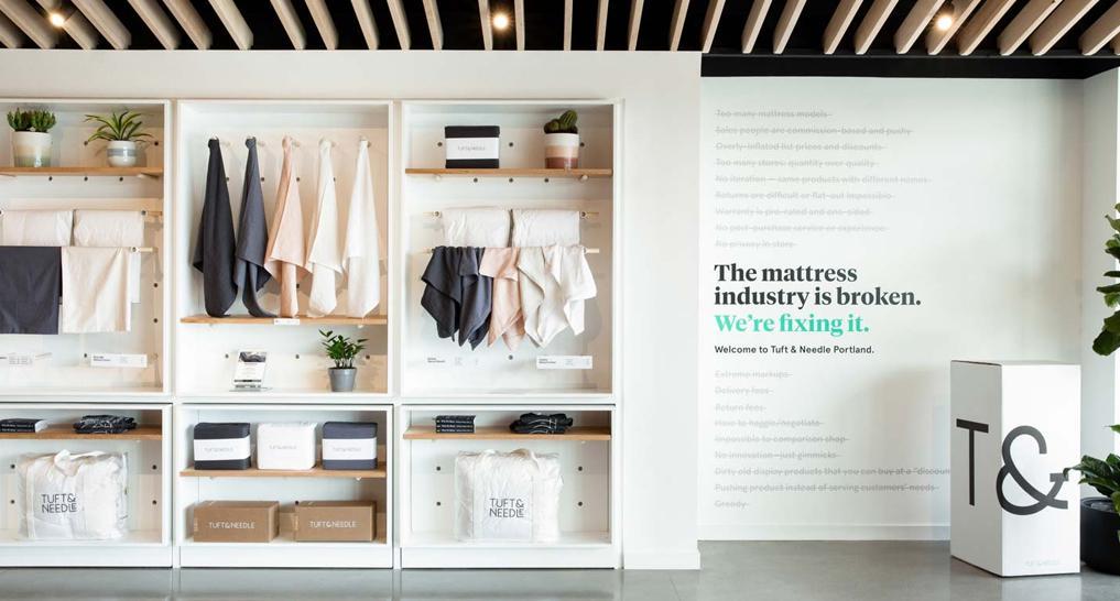 tuft and needle miami mattress store design