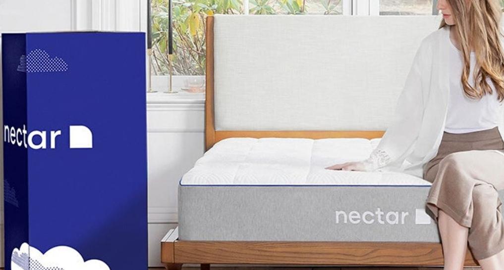 Someone looking at a Nectar mattress