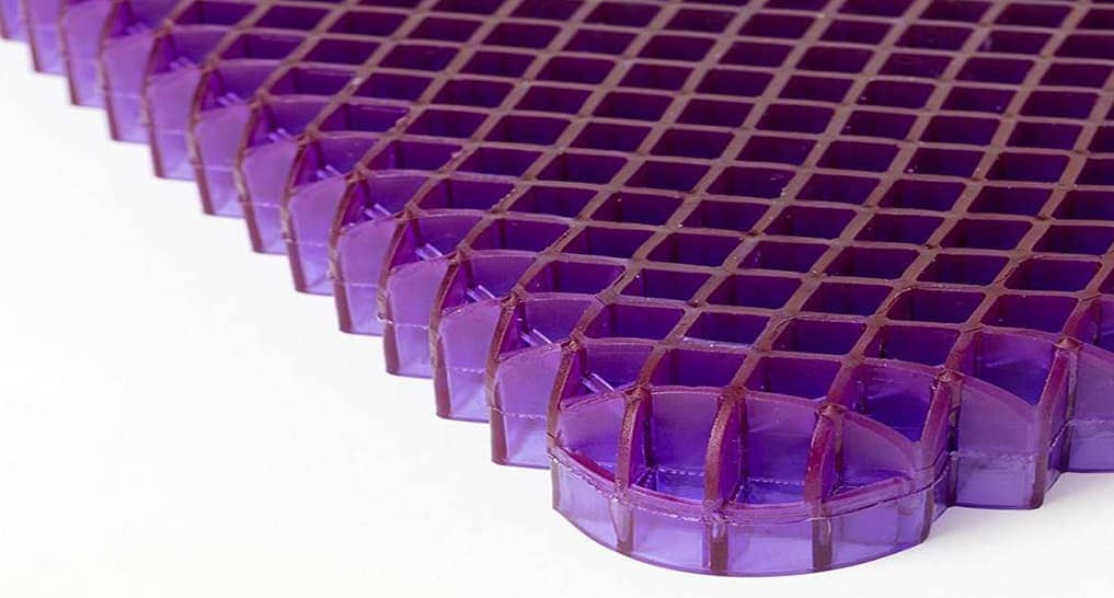 Purple Hyper Elastic Polymer Grid for 400 pound person